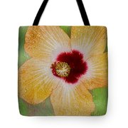 Hibiscus Gold And Red Tote Bag