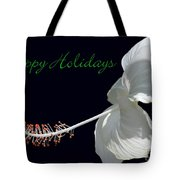 Hibiscus Holiday Card Tote Bag