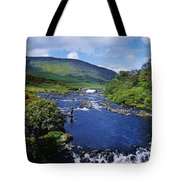 High Angle View Of A Waterfall Tote Bag