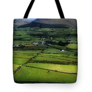 High Angle View Of Buildings In A Tote Bag