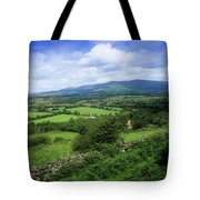 High Angle View Of Fields On A Tote Bag