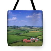 High Angle View Of Fields, Stradbally Tote Bag