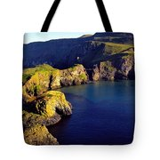 High Angle View Of Rock Formations In Tote Bag