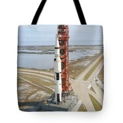 High Angle View  Of The Apollo 14 Space Tote Bag