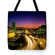 High Angle View Of Traffic Moving In A Tote Bag