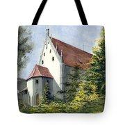 High Castle Courtyard Tote Bag