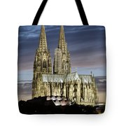 High Cathedral Of Sts. Peter And Mary In Cologne Tote Bag