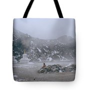 High In The Himalayas Tote Bag