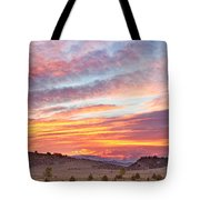 High Park Wildfire Sunset Sky Tote Bag