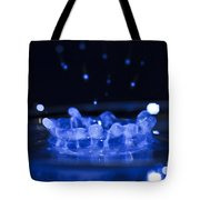 High-speed Flash Photograph Liquid Coronet. Tote Bag