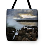 High Tide At Otter Point Tote Bag