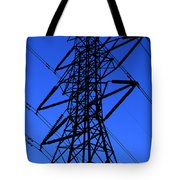 High Voltage Power Line Silhouette Tote Bag