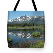 High Water Mt Tallac Reflections Tote Bag