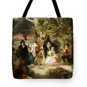 Highgate Fields During The Great Fire Of London In 1666 Tote Bag by Edward Matthew Ward