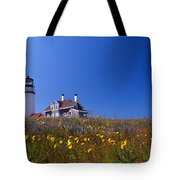 Highland Lighthouse Cape Cod Tote Bag by Skip Willits