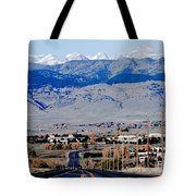 Highway 52 End Of The Line Tote Bag