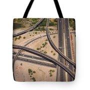 Highway Planet Art Tote Bag