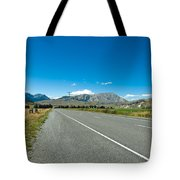 Highway Towards Panoramic Mountain Tote Bag