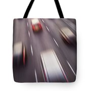 Highway Traffic In Motion Tote Bag