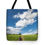 Hiking In The Summer Tote Bag
