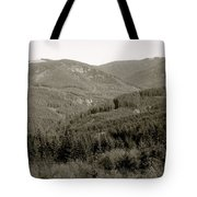 Hills In Black And White Tote Bag
