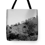 Hilltop In A Row - Black And White Tote Bag