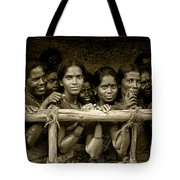 Hindu Pilgrims On New Year's Day Tote Bag