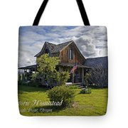 Historic 1870 Marvin Wood House With Text Tote Bag