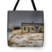 Historic Farm After Snowfall Otago New Tote Bag by Colin Monteath