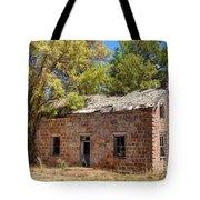 Historic Ruined Brick Building In Rural Farming Community - Utah Tote Bag