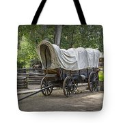 Historical Frontier Covered Wagon Tote Bag