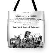 History Of Photography, 1847 Tote Bag