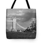 Hms Belfast And Tower Bridge Tote Bag