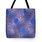 Hoar Frost On Fence Tote Bag