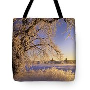 Hoar Frost On Tree, Milton, Prince Tote Bag