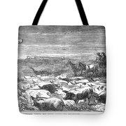 Hog Driving, 1868 Tote Bag