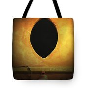Hole In The Wall With Lamp Tote Bag