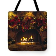 Holiday Hearth Tote Bag