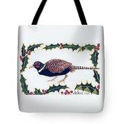 Holiday Pheasant Card Tote Bag