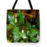 Holly Daze Dew Drops Tote Bag