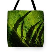 Holly Hock Foliage Tote Bag