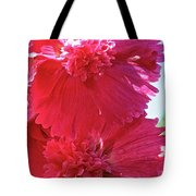 Hollyhock Duet Tote Bag