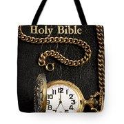 Holy Bible Pocket Watch 1 Tote Bag