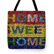 Home Sweet Home Bottle Cap Mosaic  Tote Bag by Paul Van Scott