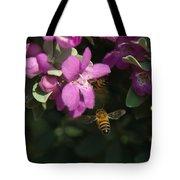 Honey Bees On Sage 3 Tote Bag