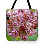 Honeybee On Milkweed Tote Bag