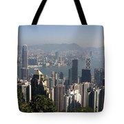 Hong Kong Cityscape Hong Kong, China Tote Bag