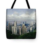 Hong Kong Island And The Bay Tote Bag