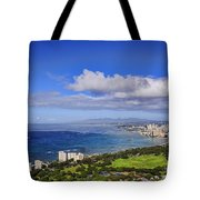 Honolulu From Diamond Head Tote Bag