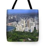 Honolulu Hawaii And Waikiki Beach Tote Bag